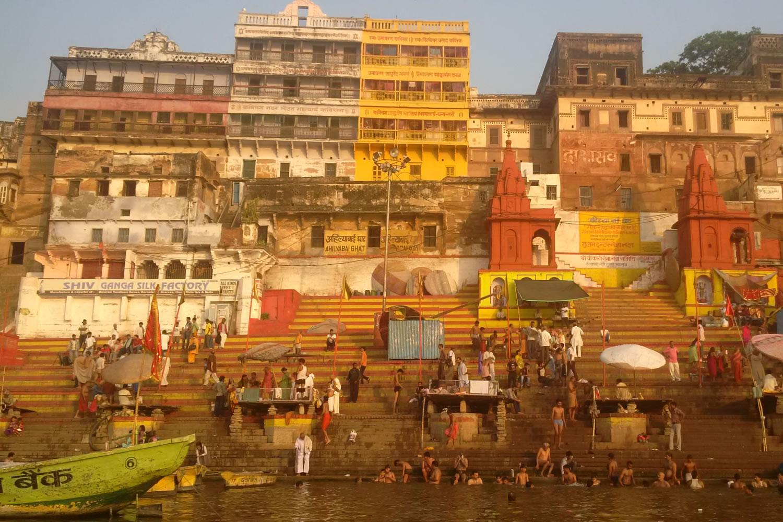ghats en el Ganges