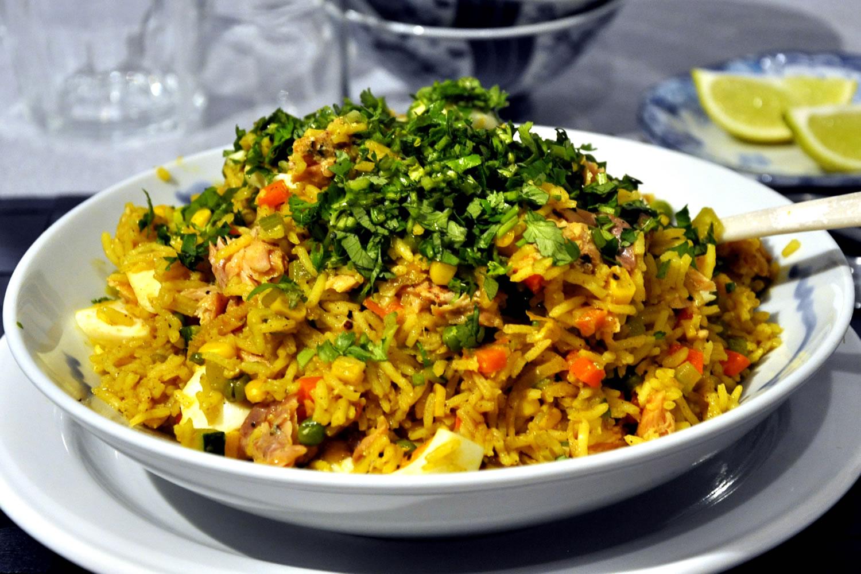receta de arroz con lentejas mung