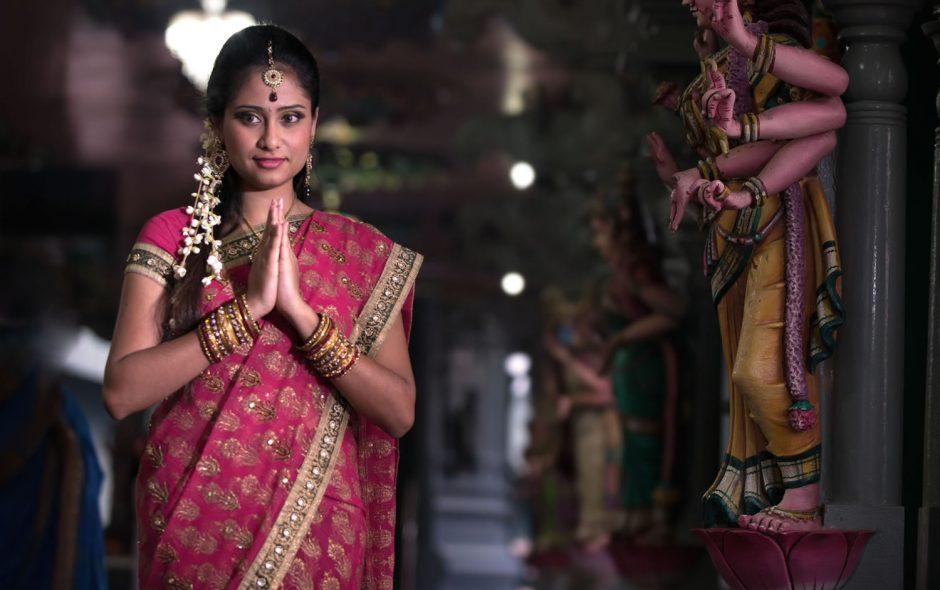 Vestido tradicional hindu mujer