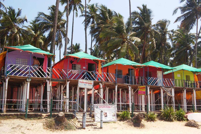 cabañas de Palolem Beach