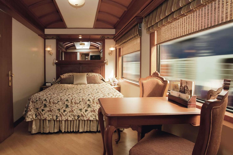 suite de lujo de un tren indio