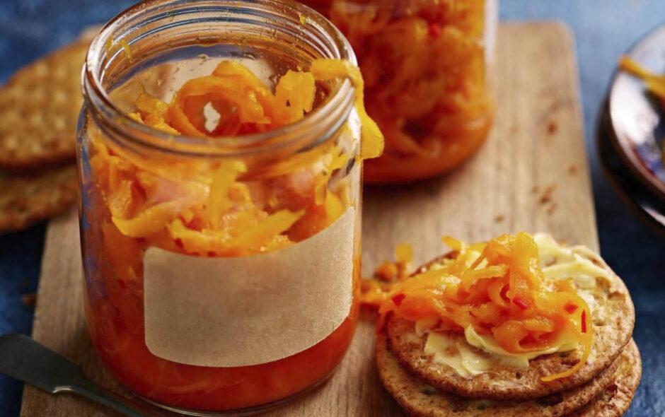 Chutney de zanahoria y mandarina