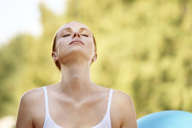 respiración con la zona alta de los pulmones